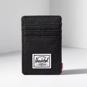 Herschel Canvas Raven Wallet Card Holder